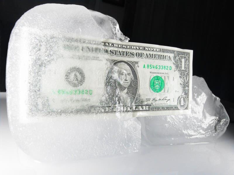 Gefrorenes oder entfrostenus-Bargeld lizenzfreie stockfotografie