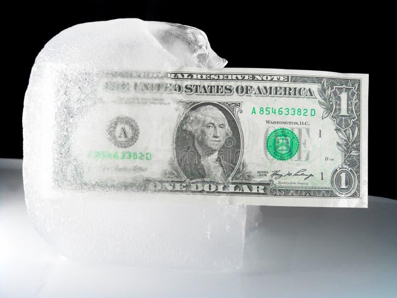 Gefrorenes oder entfrostenus-Bargeld lizenzfreies stockbild