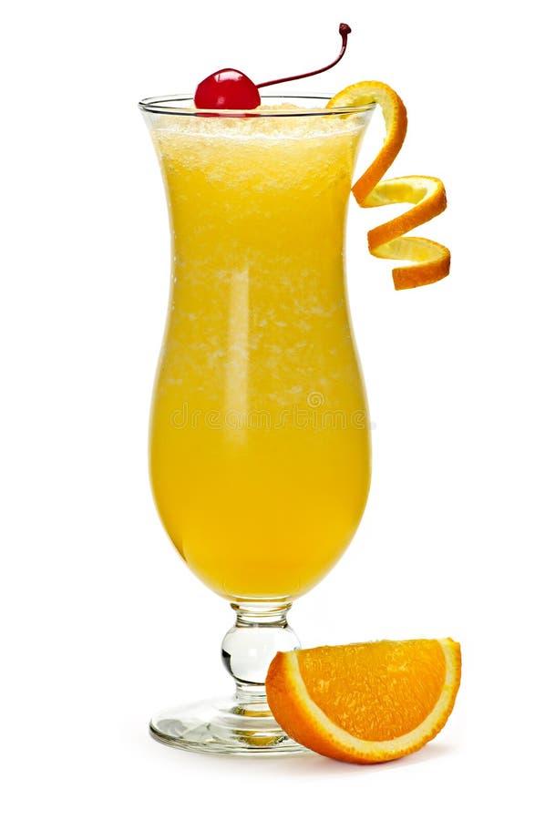 Gefrorenes Orangensaftgetränk stockfotos