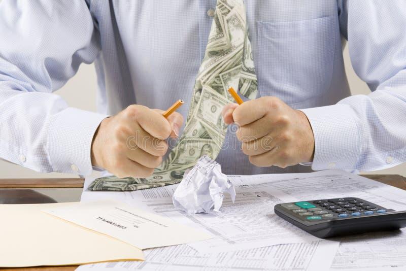 Gefrustreerde accountant stock foto's
