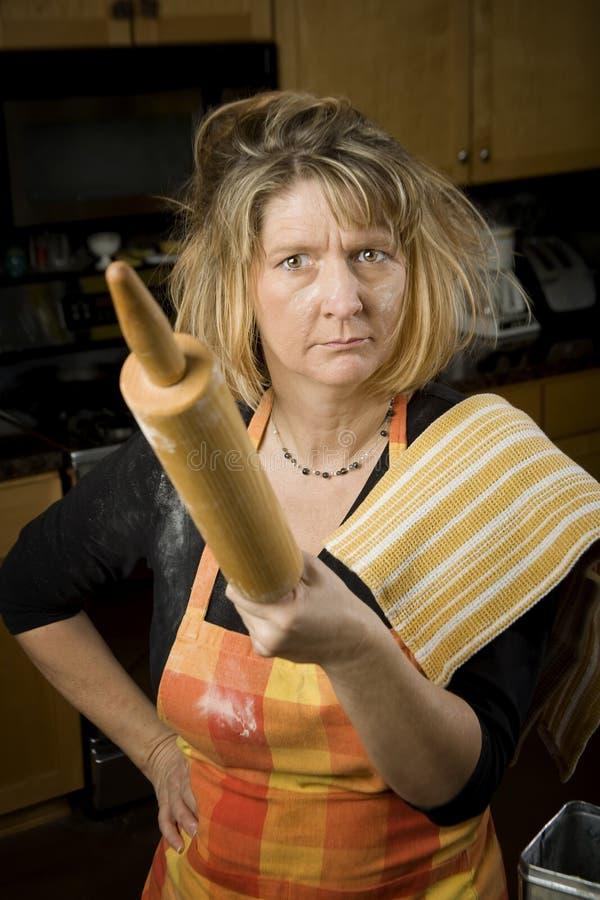 Gefrustreerde Vrouw Baker stock fotografie