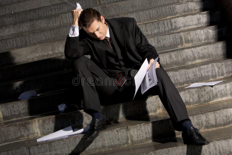 Gefrustreerde zakenman stock afbeeldingen