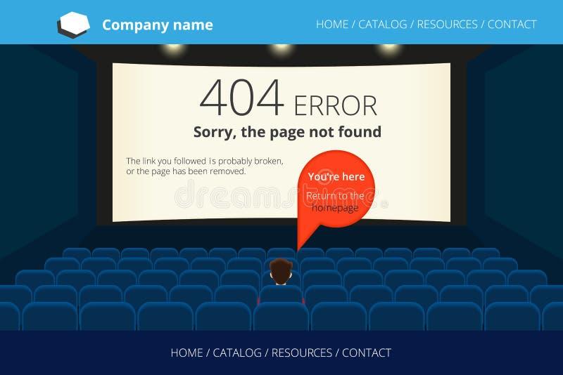 Gefundener Fehler 404 der Seite nicht lizenzfreie abbildung