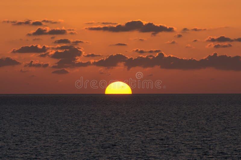Gegaan in de horizon stock foto's
