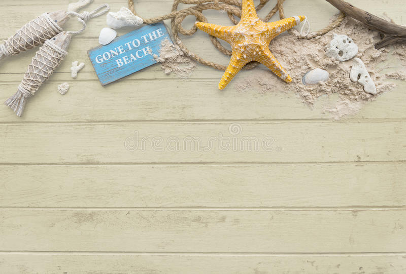 Gegaan naar het van de de Vakantievakantie van de Strandzomer de Zeesterconcept stock afbeelding