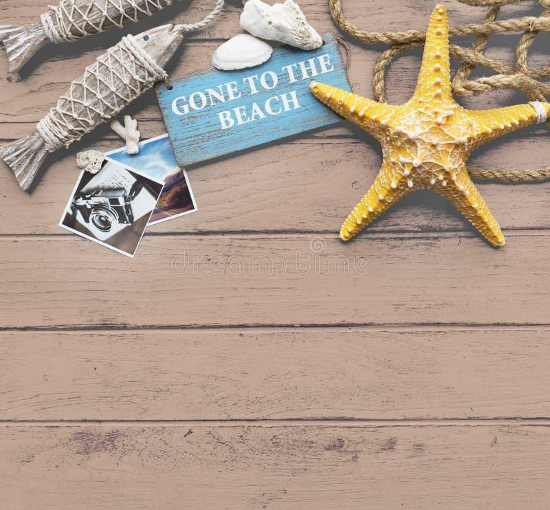 Gegaan naar het van de de Vakantievakantie van de Strandzomer het Geheugenconcept stock foto
