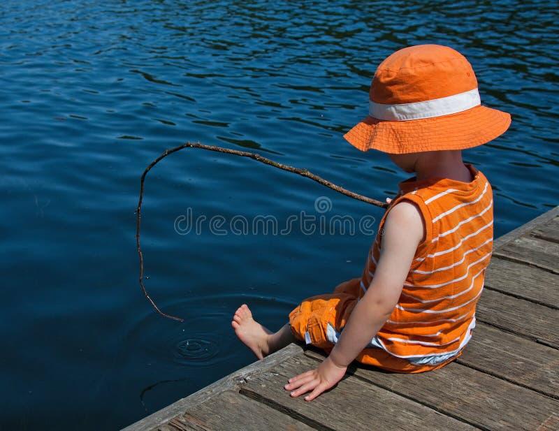 Gegaane visserij stock fotografie