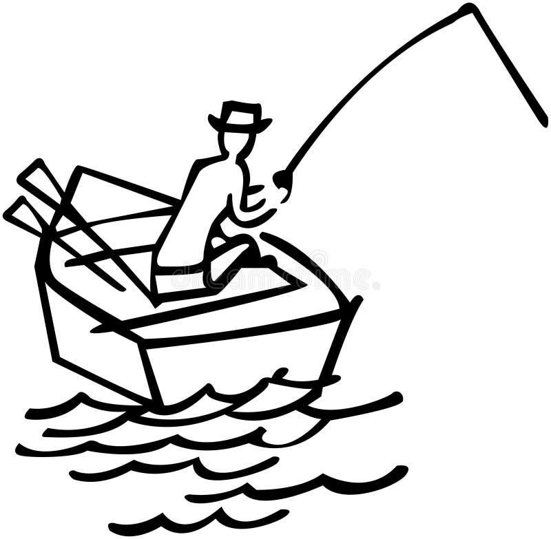 Gegaane visserij vector illustratie