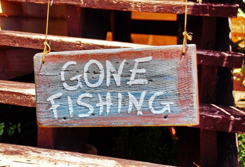 Gegaane visserij royalty-vrije stock foto