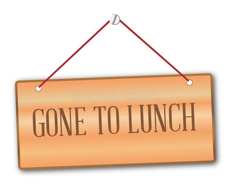 Gegangen zu Mittag zu essen vektor abbildung