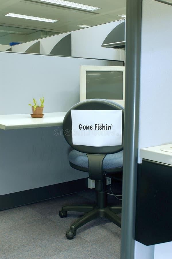 Gegangene fischen2 - Büroserie lizenzfreies stockfoto