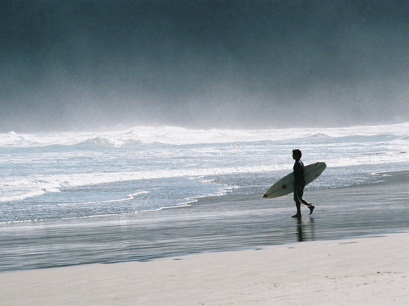 Gegangenes Surfen stockfotos