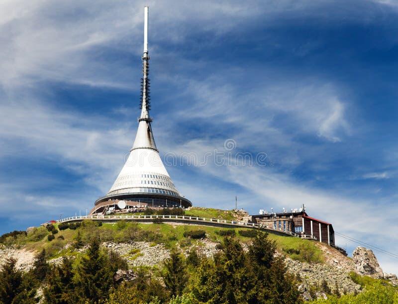 Gegekscheerde vooruitzichttoren, Liberec, Tsjechische Republiek royalty-vrije stock afbeelding