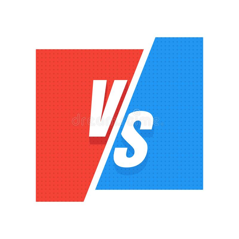GEGEN gegen blaues und rotes komisches Design Vektor vektor abbildung