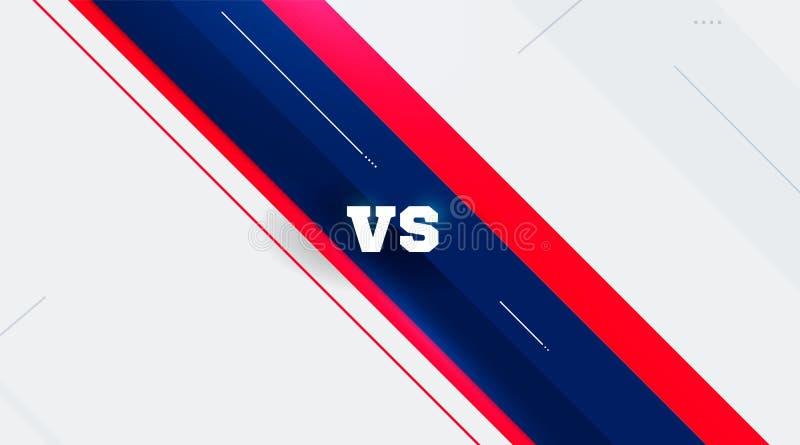 Gegen Logo gegen Buchstaben f?r Sport und Kampfwettbewerb Muttahida Majlis-e-Amal, Kampf, gegen Match, Spielkonzept wettbewerbsfä lizenzfreie abbildung