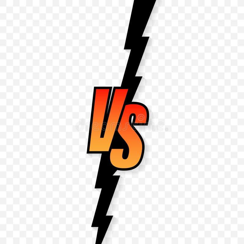 Gegen Logo gegen Buchstaben f?r Sport und Kampfwettbewerb Vektorauf lagerabbildung lizenzfreie abbildung