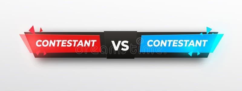 Gegen Logo sreen Entwurf GEGEN Vektor beschriftet Illustration Rot, gelb und blau im schwarzen Hintergrund Wettbewerbs-Ikone kamp lizenzfreie abbildung