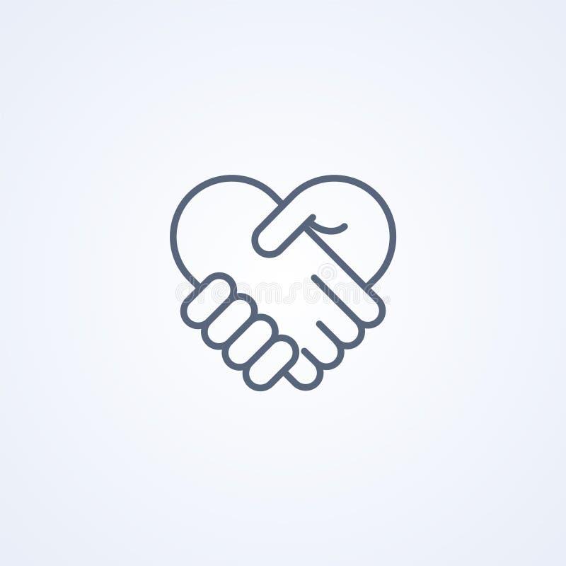 Gegenseitige Geschäftsikone lizenzfreie abbildung