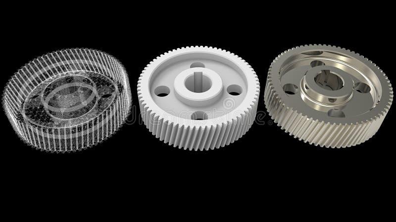 Gegenstände des Designs 3D lizenzfreie stockfotos