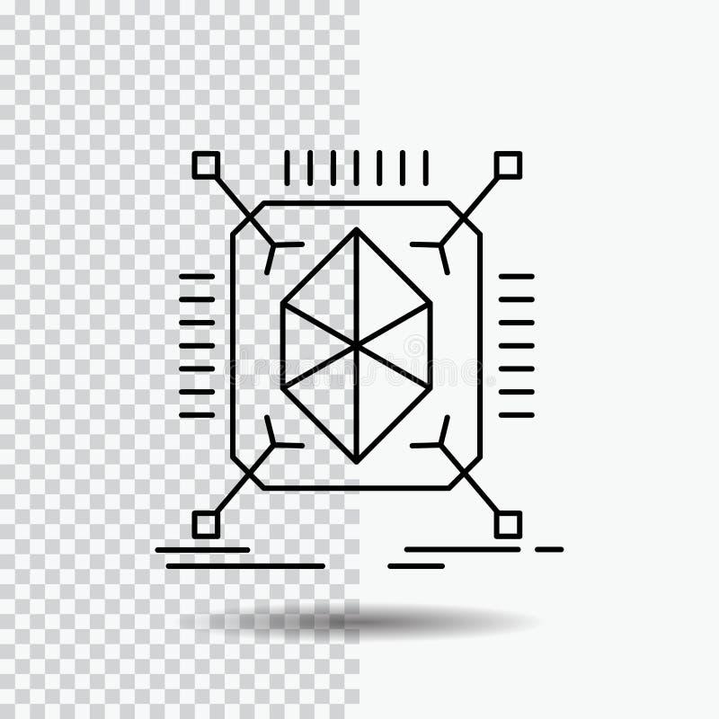 Gegenstand, Erstausführung, schnell, Struktur, 3d Linie Ikone auf transparentem Hintergrund Schwarze Ikonenvektorillustration vektor abbildung