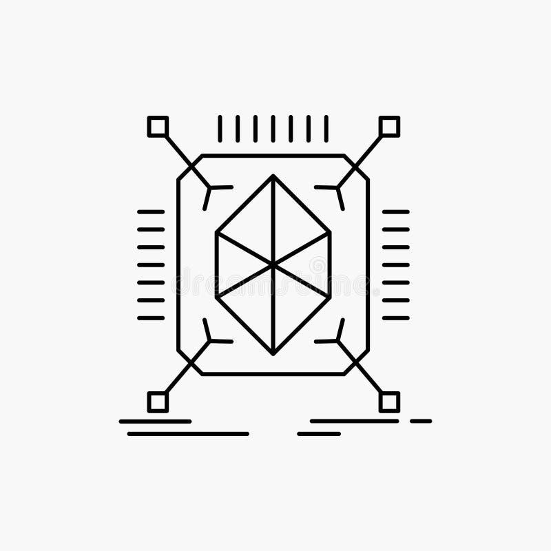 Gegenstand, Erstausführung, schnell, Struktur, 3d Linie Ikone Vektor lokalisierte Illustration stock abbildung