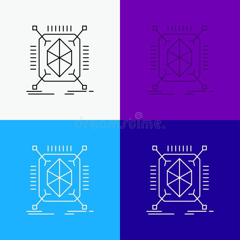 Gegenstand, Erstausführung, schnell, Struktur, Ikone 3d über verschiedenem Hintergrund r Vektor ENV 10 stock abbildung