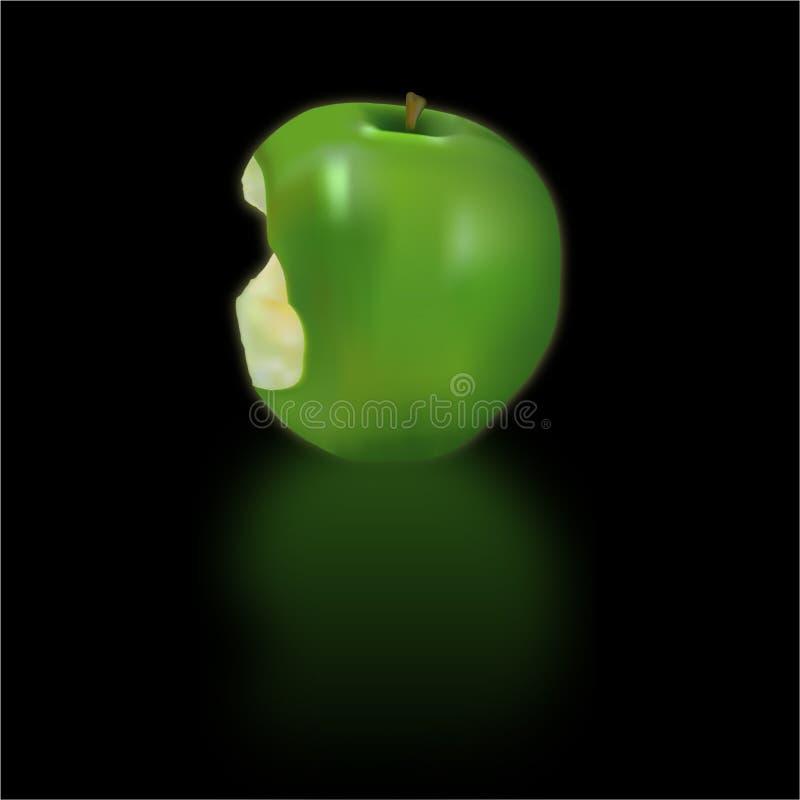 Gegeten appelvector royalty-vrije illustratie
