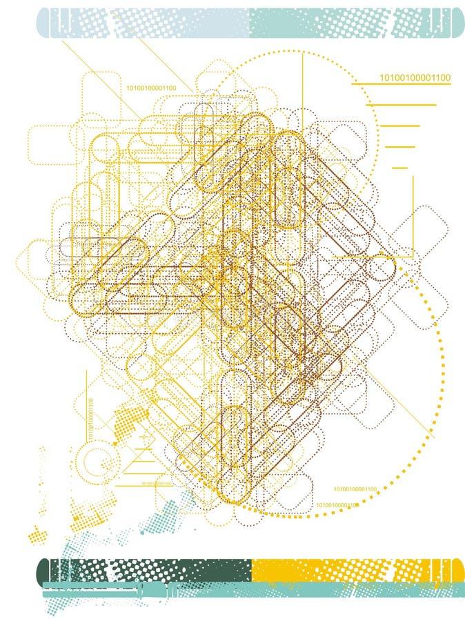 Gegevens & technologie vectorachtergrond royalty-vrije illustratie