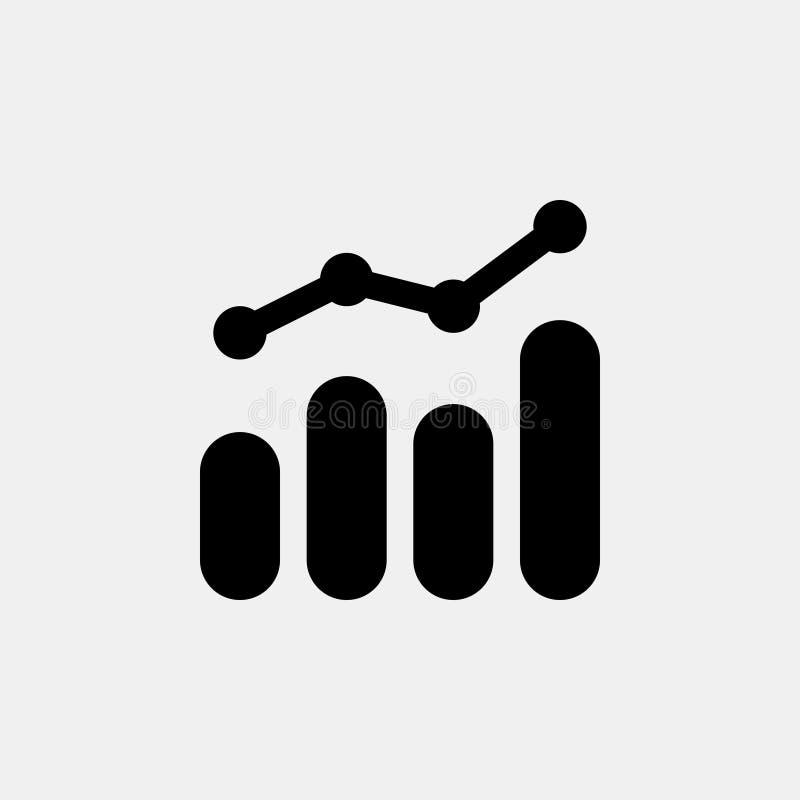 Gegevens Analitisch statisch vectorpictogram royalty-vrije illustratie