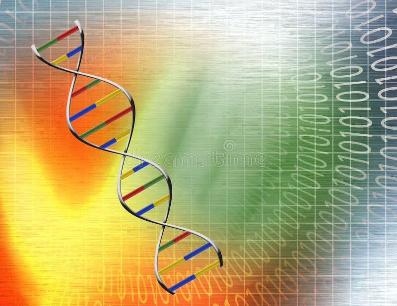 Gegevens DNA vector illustratie