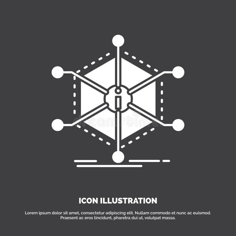 Gegevens, hulp, informatie, informatie, middelenpictogram glyph vectorsymbool voor UI en UX, website of mobiele toepassing royalty-vrije illustratie