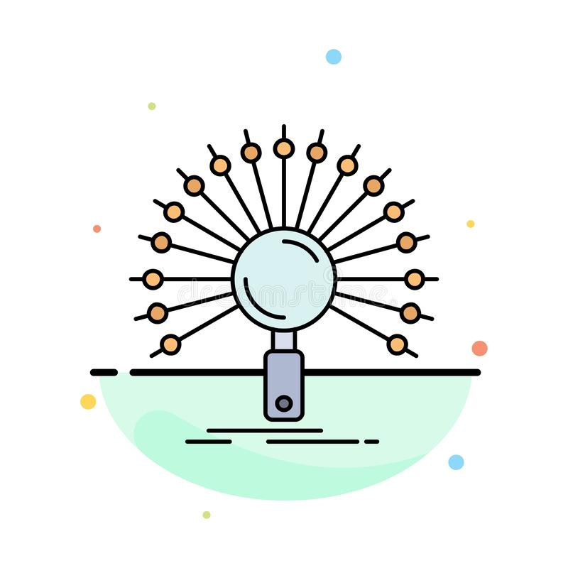 Gegevens, informatie, informatie, netwerk, het Pictogramvector van de herwinnings Vlakke Kleur stock illustratie
