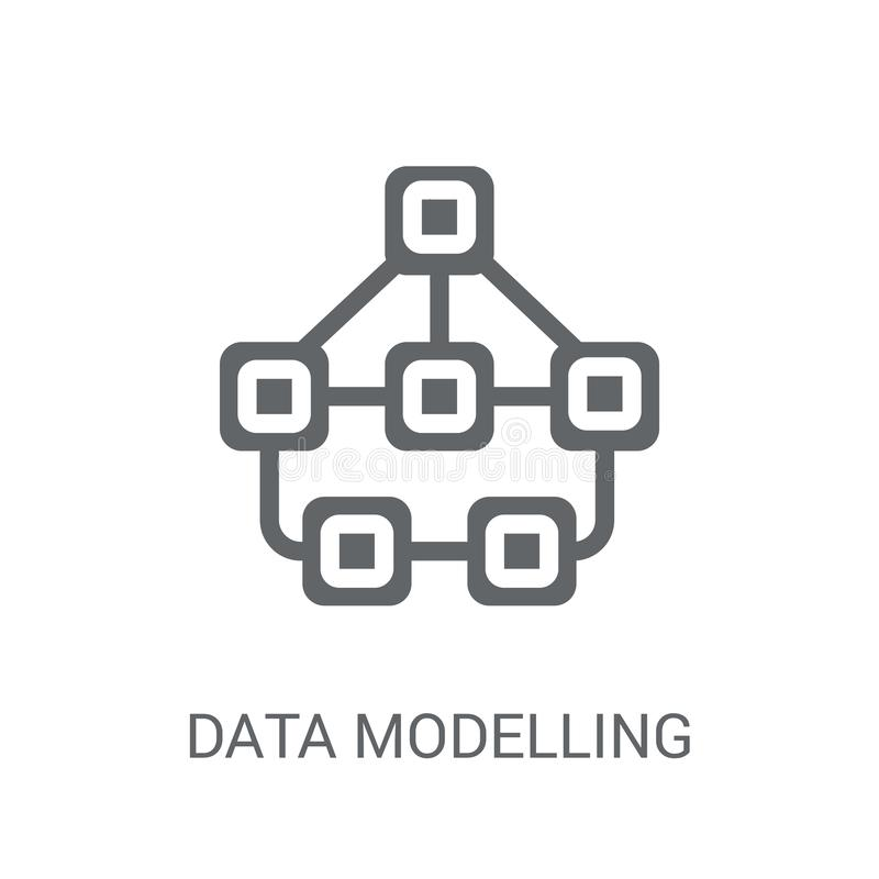 Gegevens modelleringspictogram  vector illustratie
