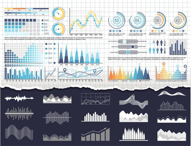 Gegevens over de Malplaatjes van Infographics en van Stroomschema's vector illustratie
