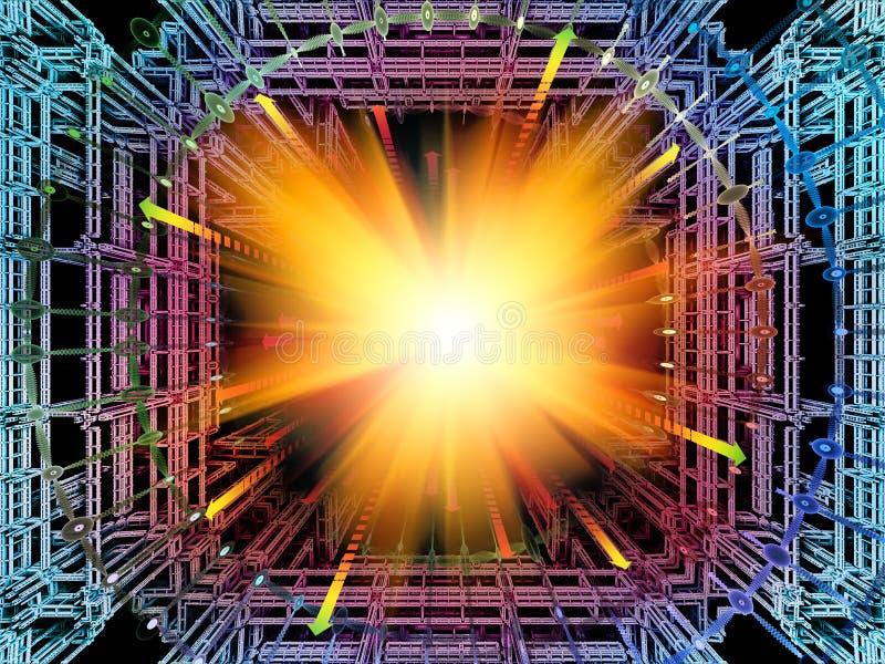 Gegevens verwerkende Quantumruimte vector illustratie