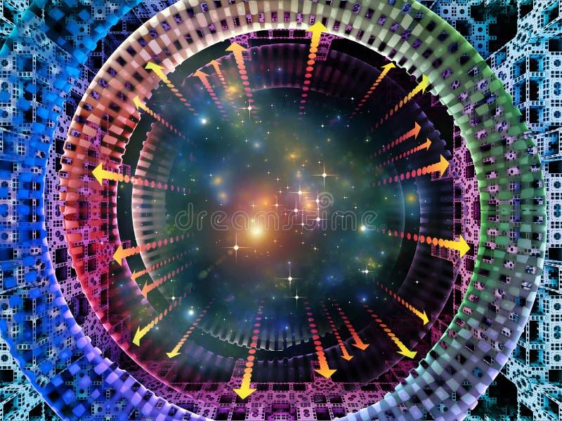 Gegevens verwerkende Quantumruimte stock illustratie