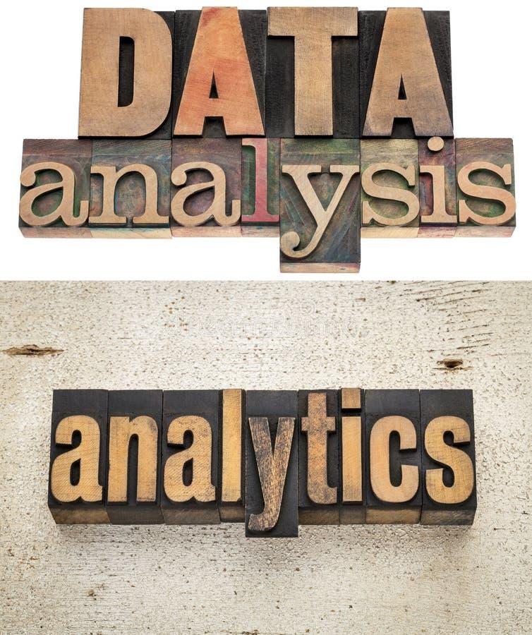 Gegevensanalyse en analytics royalty-vrije stock afbeelding