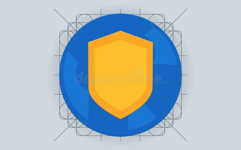 Gegevensbescherming, Internet-concepten van de veiligheids de vlakke illustratie stock illustratie
