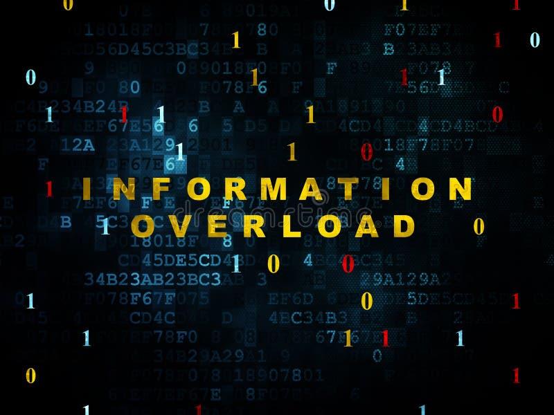 Gegevensconcept: Informatieoverbelasting op Digitaal stock illustratie