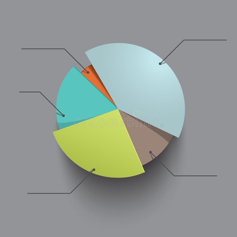 Gegevenselement van het ontwerp het cirlular diagram royalty-vrije illustratie