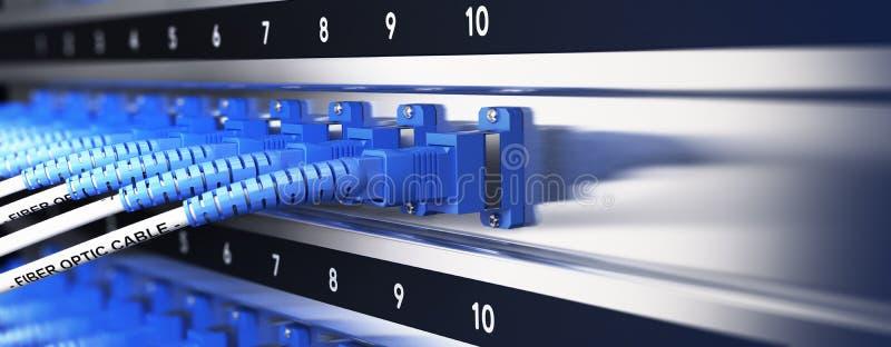 GegevensTelecommunicatie-uitrusting stock illustratie