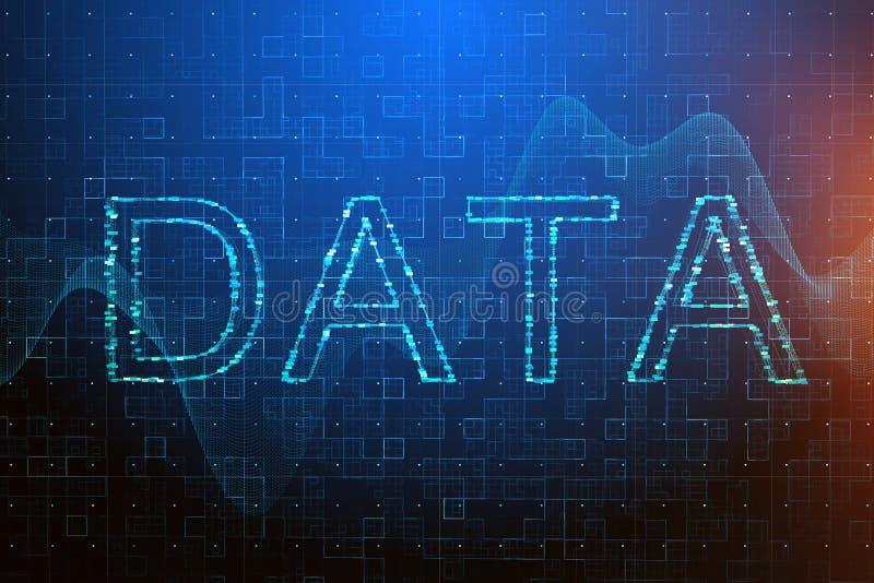 Gegevensverwerking en gegevens concept vector illustratie