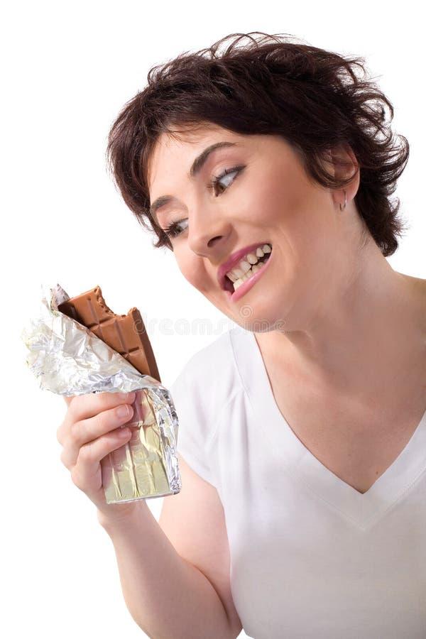 Gegewöhnt zur Schokolade stockfoto
