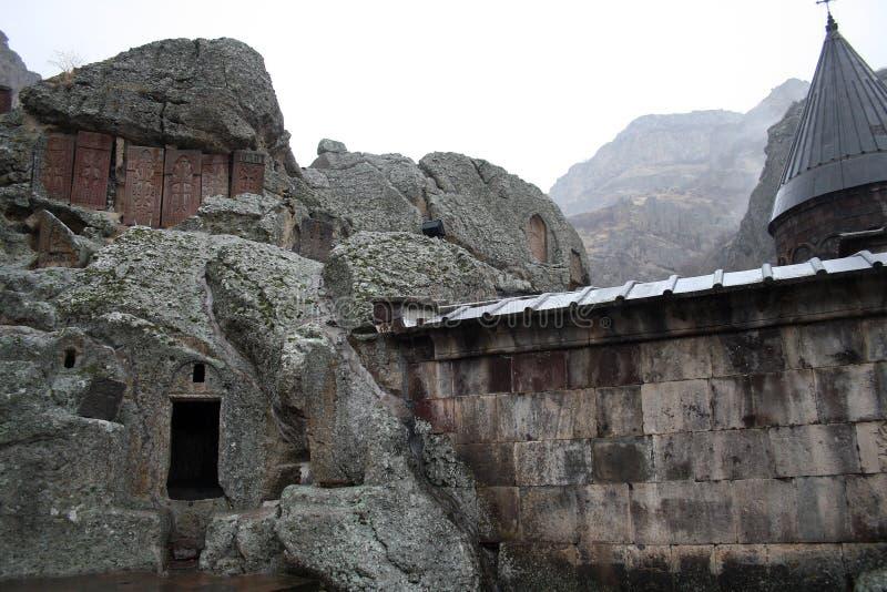 Geghard monaster, monaster dzida, Kotayk prowincja, Armenia zdjęcie royalty free