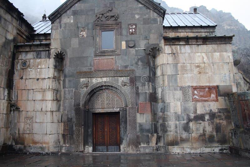 Geghard monaster, monaster dzida, Kotayk prowincja, Armenia obraz royalty free