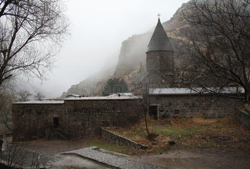 Geghard monaster, monaster dzida, Kotayk prowincja, Armenia obrazy royalty free