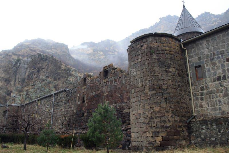 Geghard monaster, monaster dzida, Kotayk prowincja, Armenia zdjęcie stock