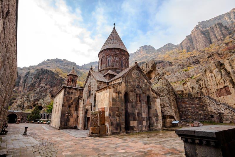 Geghardavank i Armenien royaltyfri fotografi