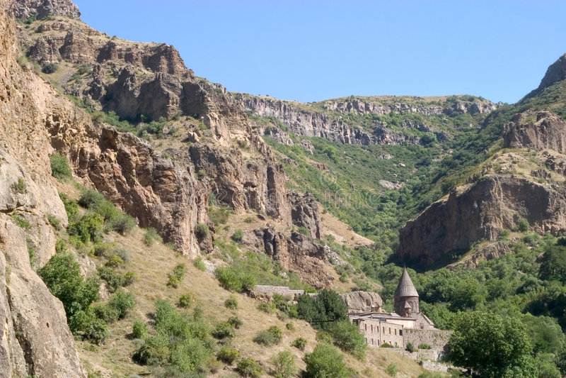 geghardkloster royaltyfri fotografi
