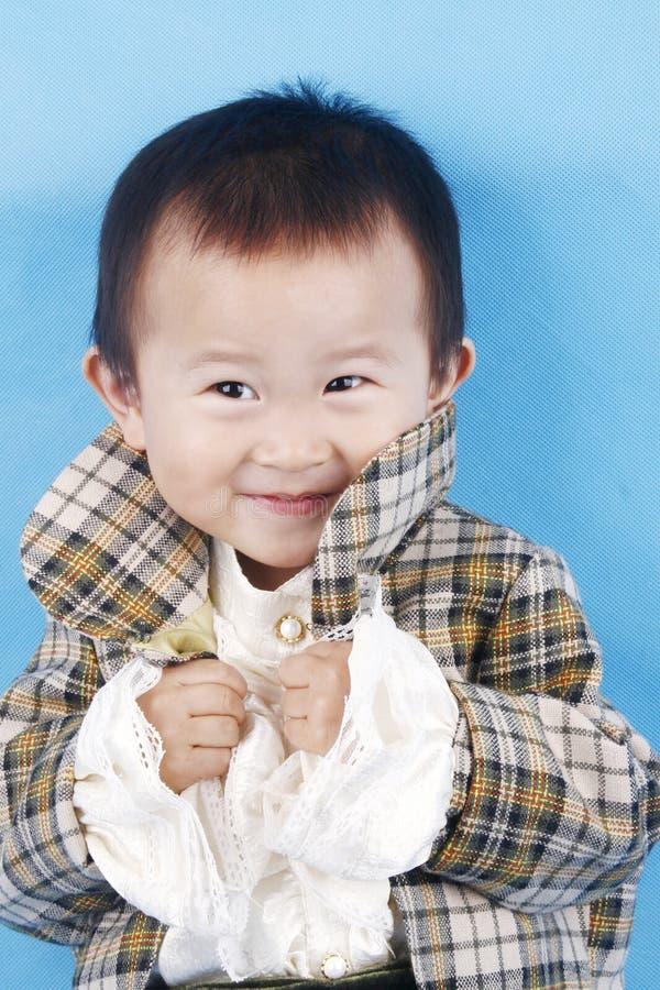 Gegiechel van jongen royalty-vrije stock fotografie